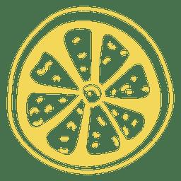 Lemon doodle in yellow
