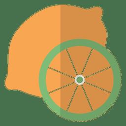 Icono de fruta naranja