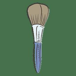 Hand-drawn make up brush