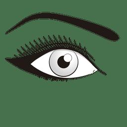 Maquillaje ilustración de ojos