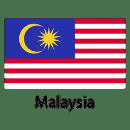 Bandera nacional de malasia