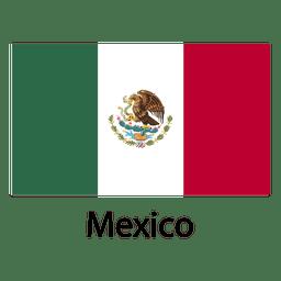 bandeira nacional do México