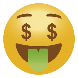 Emoticon de emoji de dinero