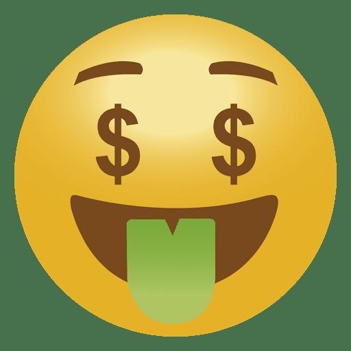 Emoji de dinheiro emoticon Transparent PNG