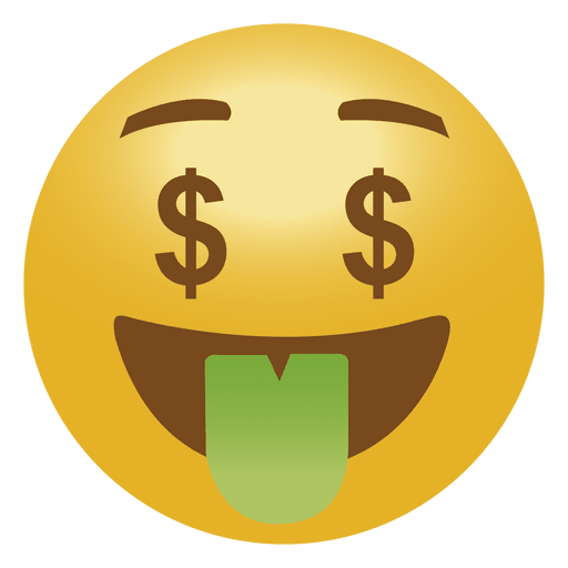 Emoticon de emoji de dinero Transparent PNG