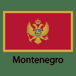 Bandera nacional de montenegro