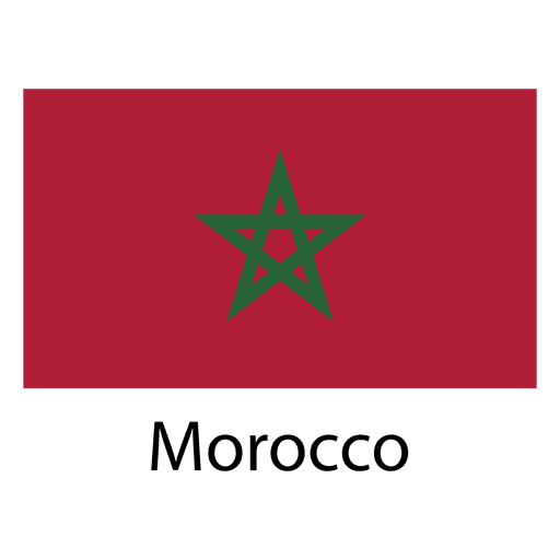 Bandera nacional de marruecos
