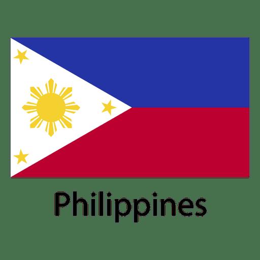 Bandera nacional de filipinas Transparent PNG