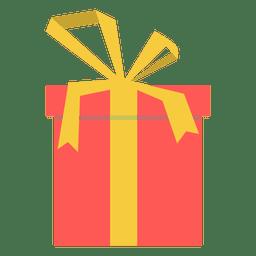 Caja de regalo rosa icono arco amarillo 18