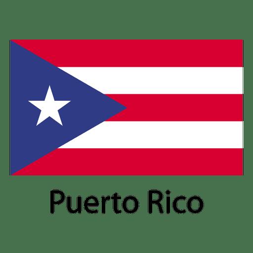 Bandera nacional de puerto rico