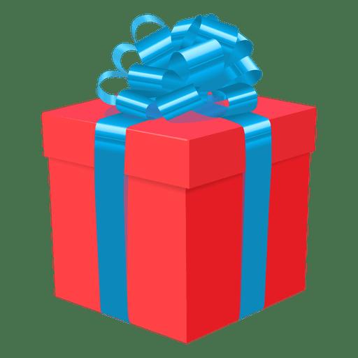 Caja de regalo roja icono azul arco 1 Transparent PNG