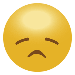 Yellow sad emoji emoticon