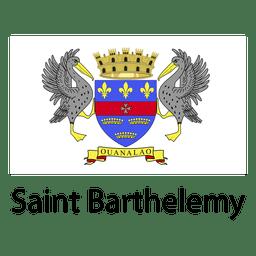 Bandera nacional de San Bartolomé
