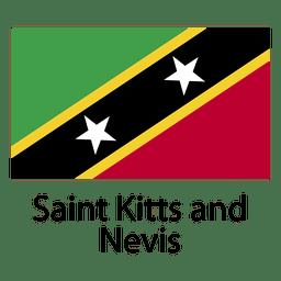 Bandera nacional de saint kitts y nevis