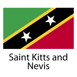Saint kitts and nevis national flag