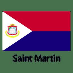 Saint martin national flag