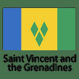 San Vicente y las Granadinas Bandera Nacional.