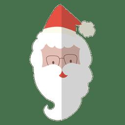 Santa claus head flat icon 2