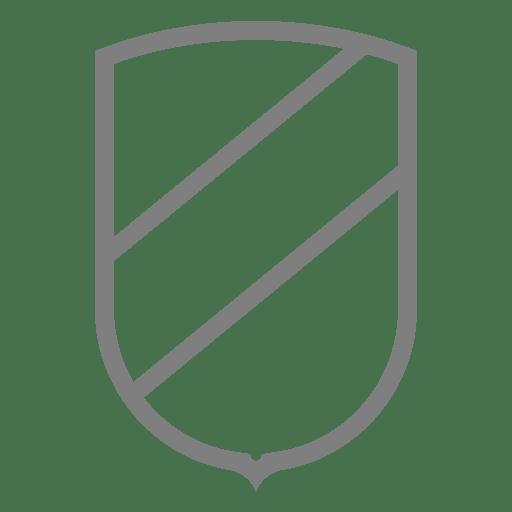 Shield Emblem Label Outline Transparent PNG