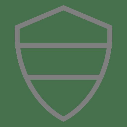 Simple shield emblem label Transparent PNG