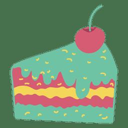 Torta de bolo de fatia