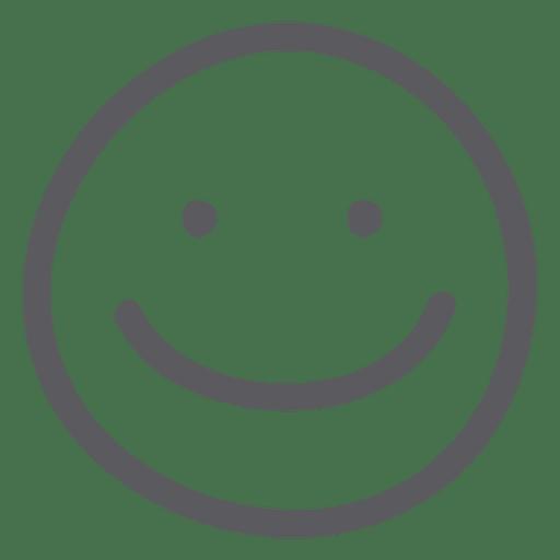 Emoticon de emoji de sonrisa
