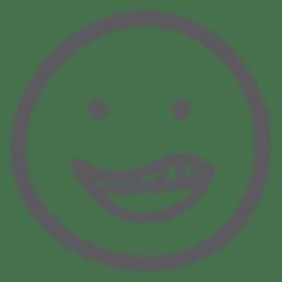 Dibujado sonrisa emoji icono de emoticon