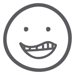 Drawn smile emoji emoticon icon