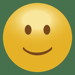 Emoticon Emoji des Lächelns 3D