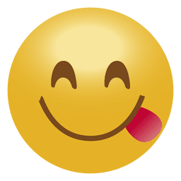 Smile emoticon de la lengua emoji