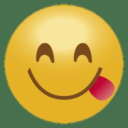 Sorria emoticon de língua emoji