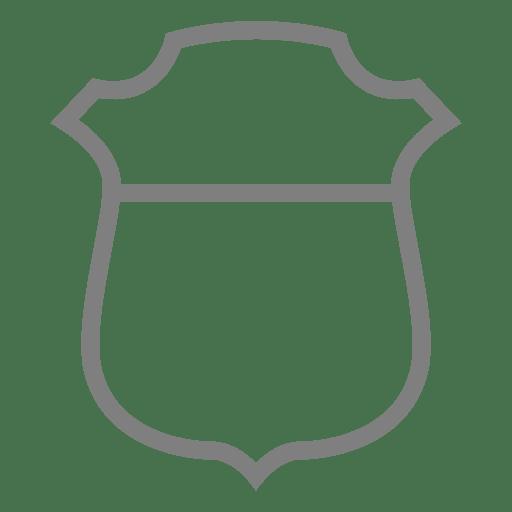 Stroke shield label Transparent PNG