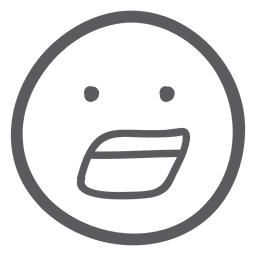 Emoticon de emoji sorprendido