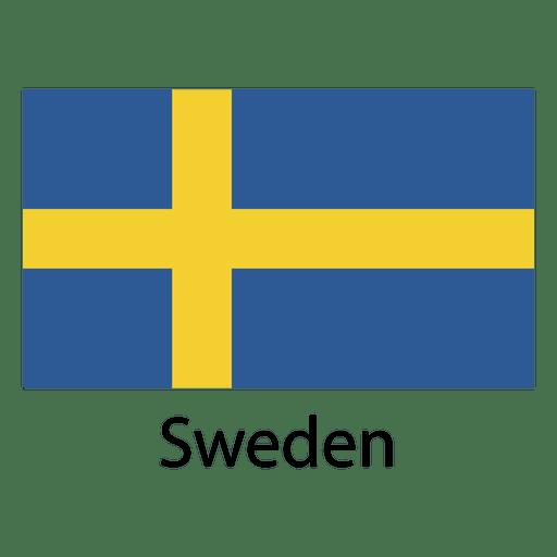Bandera nacional de suecia