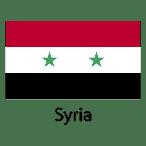 Bandera nacional de siria