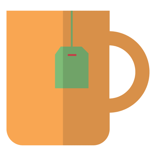 Flat tea cup icon Transparent PNG