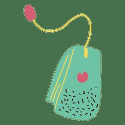 Tea teabag Flat Design