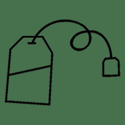 Tea teabag drink stroke icon Transparent PNG