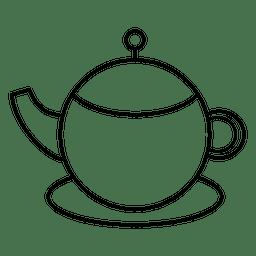 Tea teapot stroke icon