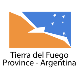 Bandeira nacional da província de Tierra del Fuego argentina
