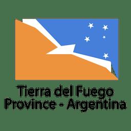 Bandera nacional argentina de la provincia de tierra del fuego