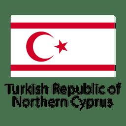 Bandera nacional de la república turca del norte de chipre