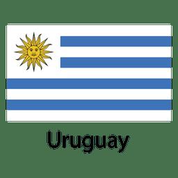 Bandera nacional uruguaya