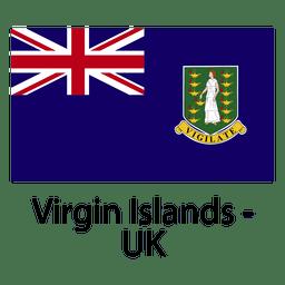 Bandera nacional de las islas vírgenes del reino unido