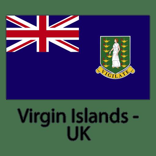 Bandera nacional de las islas vírgenes del reino unido Transparent PNG