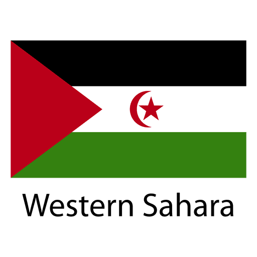 Bandera nacional del sahara occidental Transparent PNG