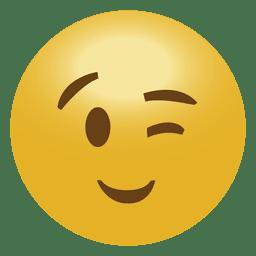 Guiño del emoticon emoji