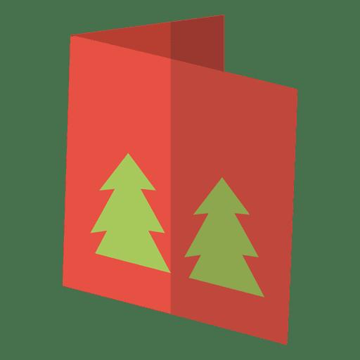 Ícone plano de cartão de saudação de inverno 11 Transparent PNG