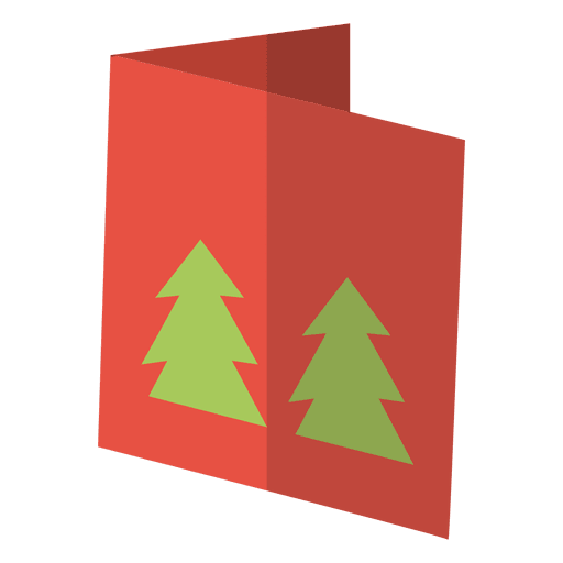 Winter greeting card flat icon 11