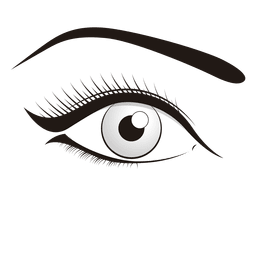 Frau Auge bilden